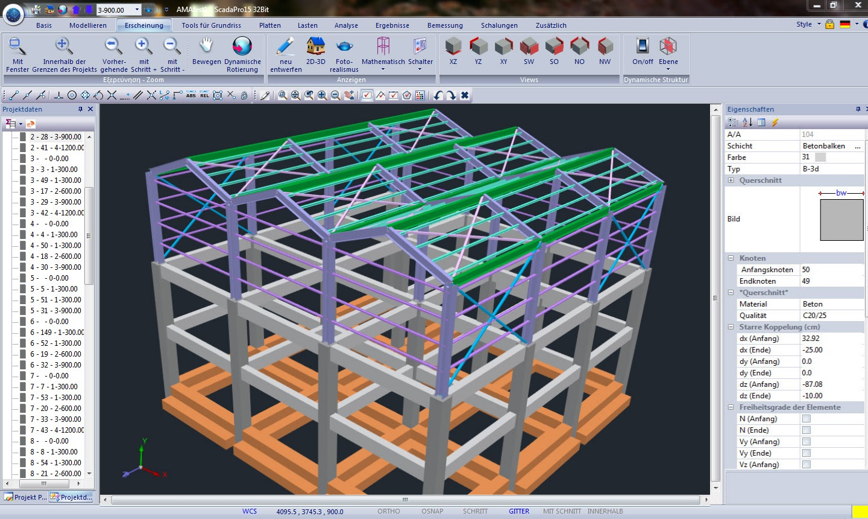 Scada pro steel kurze beschreibung for Finite elemente tragwerk