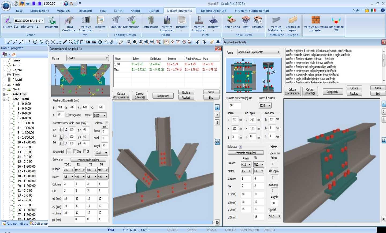 Scada pro steel breve descrizione for Strutture metalliche dwg