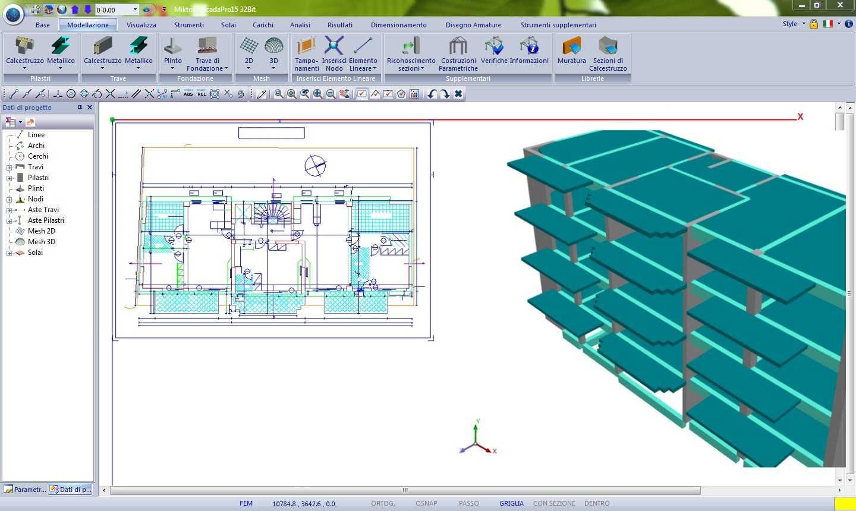 Scada pro analysis descrizione dettagliata for Strutture metalliche dwg